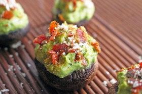 avocado prosciutto stuffed mushrooms2